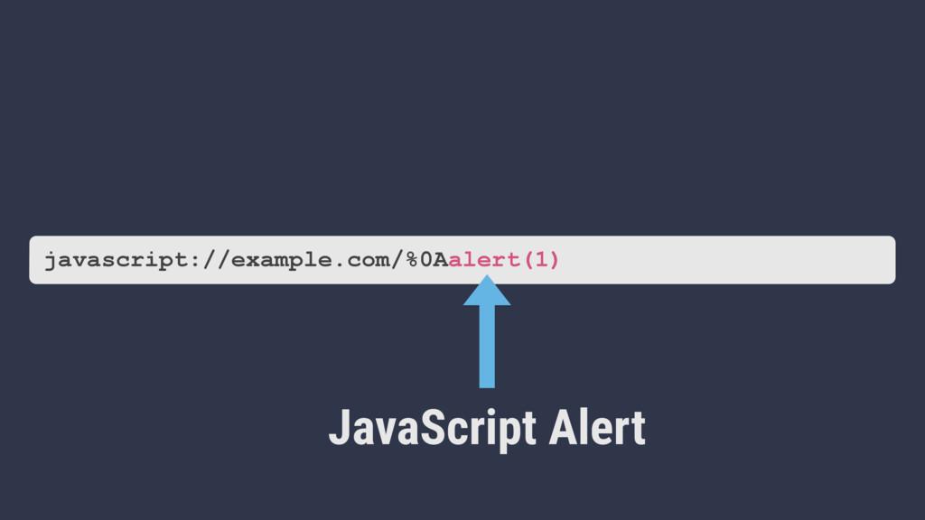 JavaScript Alert javascript://example.com/%0Aal...