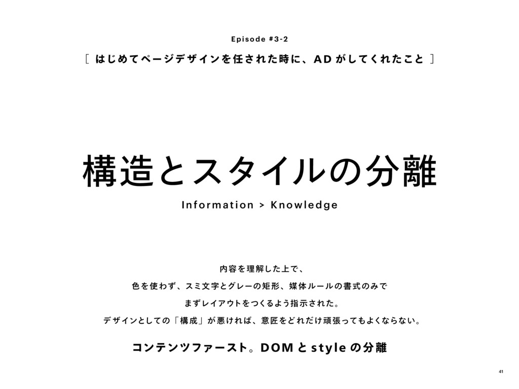 構造とスタイルの分離 [ はじめてページデ ザ インを 任され た時に、A D がしてくれ た...