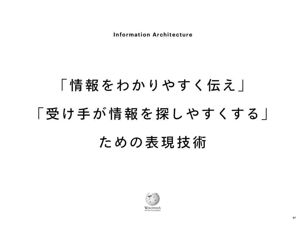 「 情 報をわかりやすく伝え」 「 受け手が 情 報を探しやすくする」 ための表 現 技 術 ...
