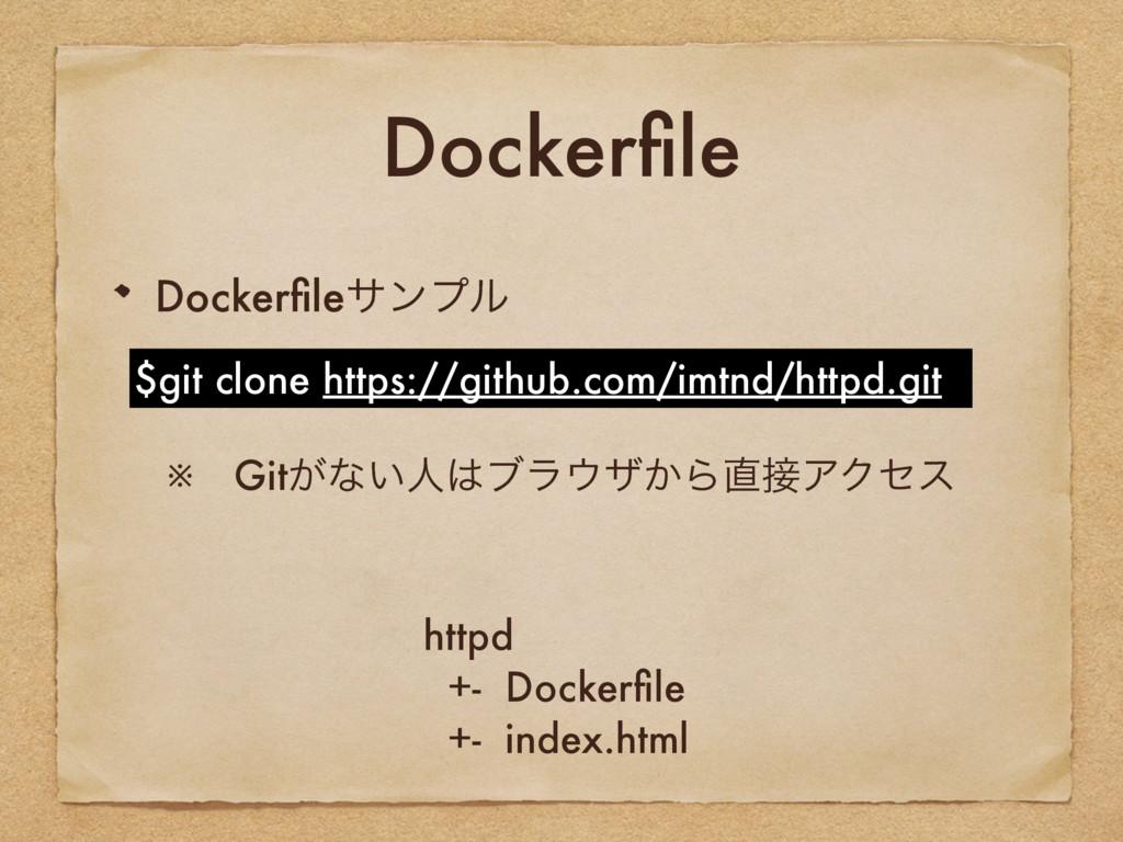 Dockerfile Dockerfileαϯϓϧ $git clone https://gith...
