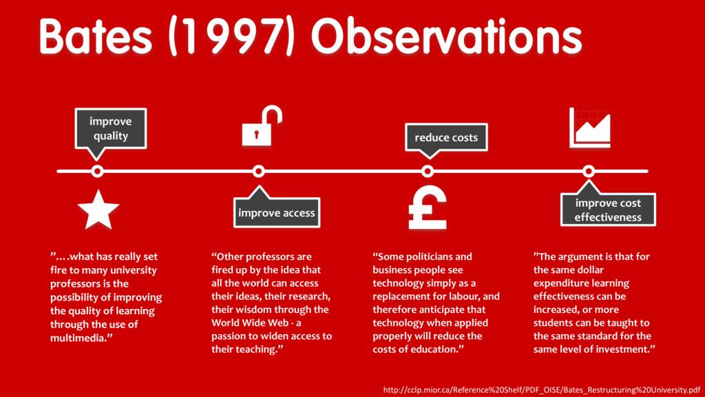 Bates (1997) Observations improve quality e imp...