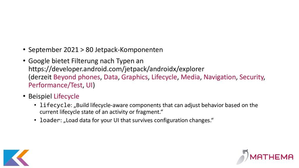 • September 2021 > 80 Jetpack-Komponenten • Goo...