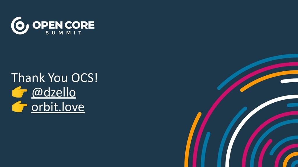 Thank You OCS! 👉 @dzello 👉 orbit.love