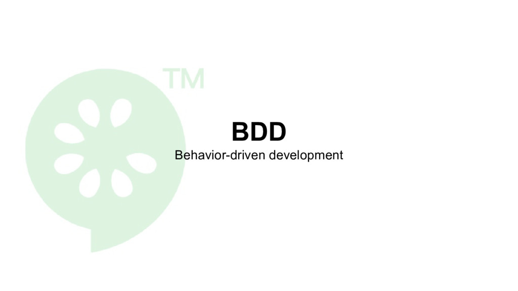 BDD Behavior-driven development