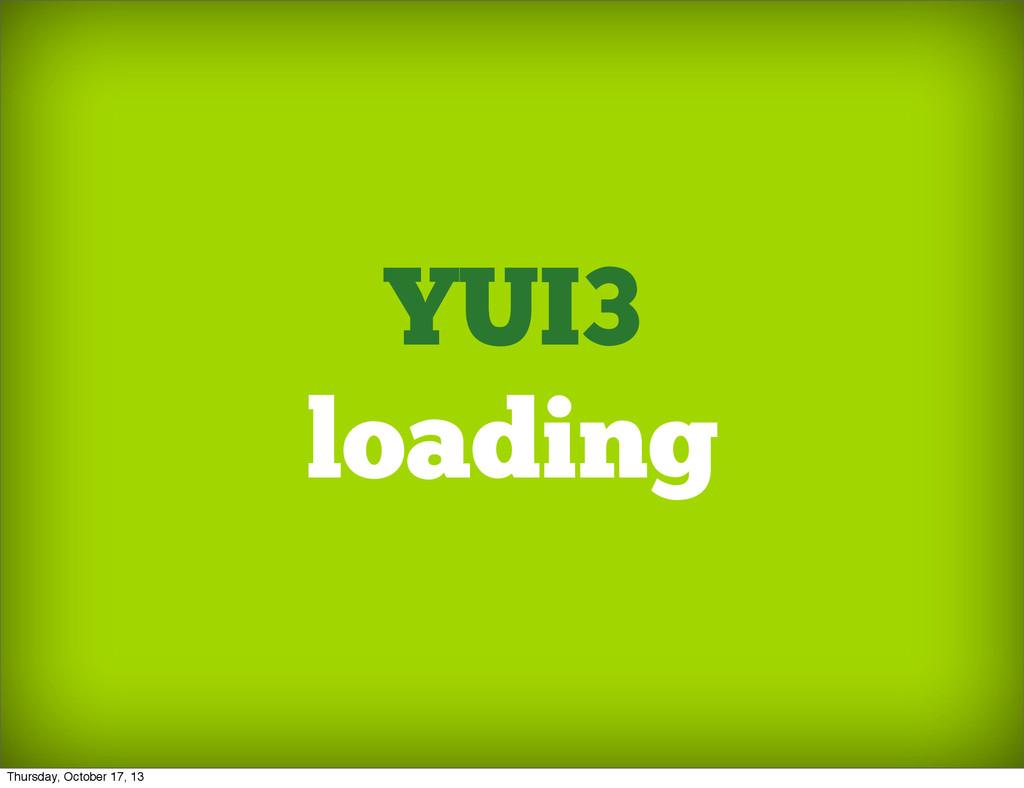 YUI3 loading Thursday, October 17, 13