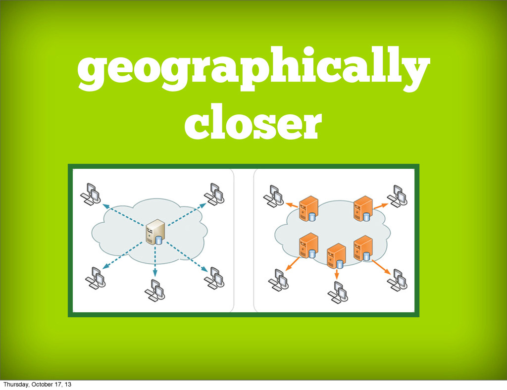 geographically closer Thursday, October 17, 13