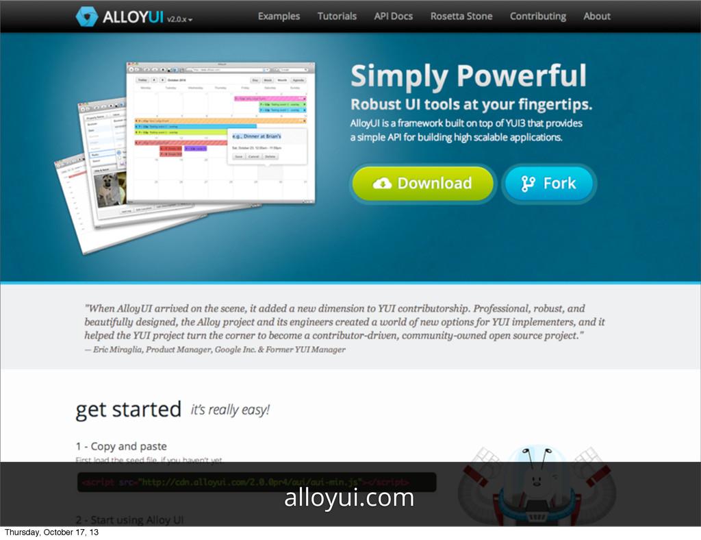 alloyui.com Thursday, October 17, 13
