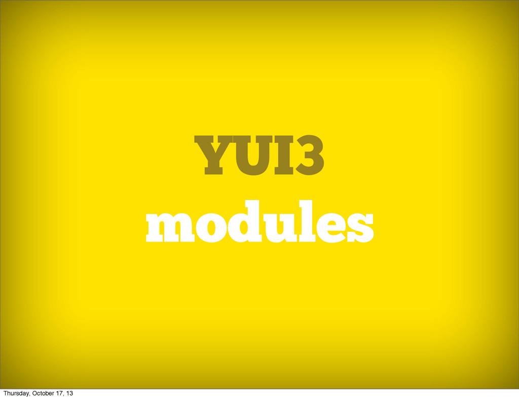 YUI3 modules Thursday, October 17, 13