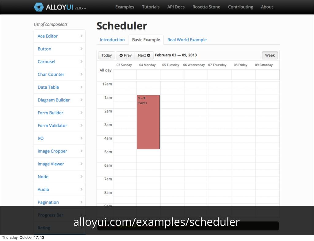 alloyui.com/examples/scheduler Thursday, Octobe...