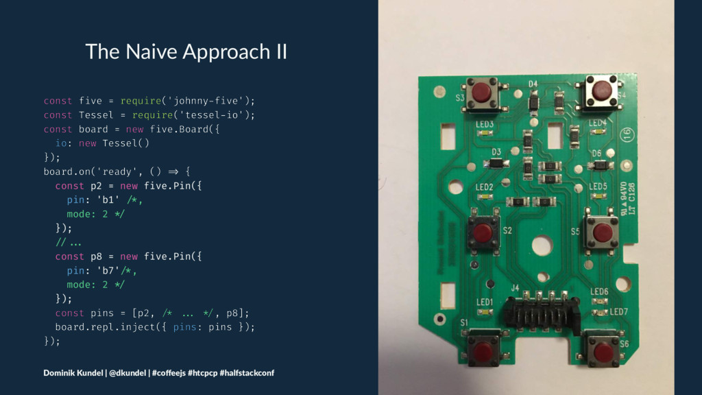 The Naive Approach II const five = require('joh...