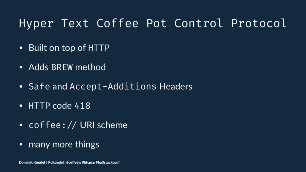 Hyper Text Coffee Pot Control Protocol • Built ...