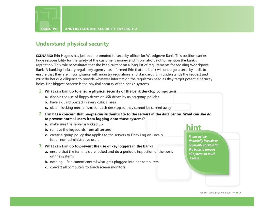 Understand physical security 7 OBJECTIVE UNDERS...