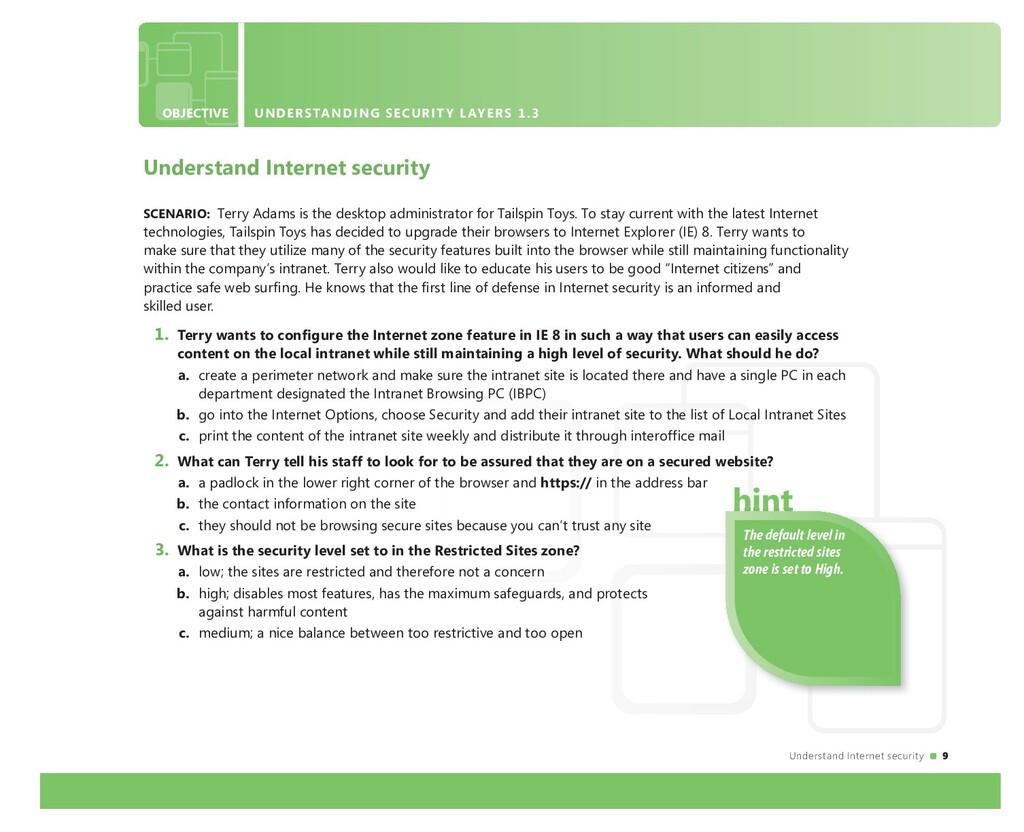Understand Internet security 9 OBJECTIVE UNDERS...
