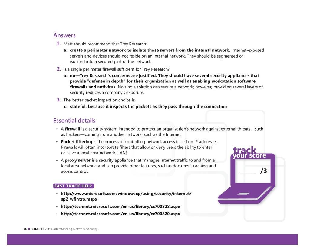 34 CHAPTER 3: Understanding Network Security An...
