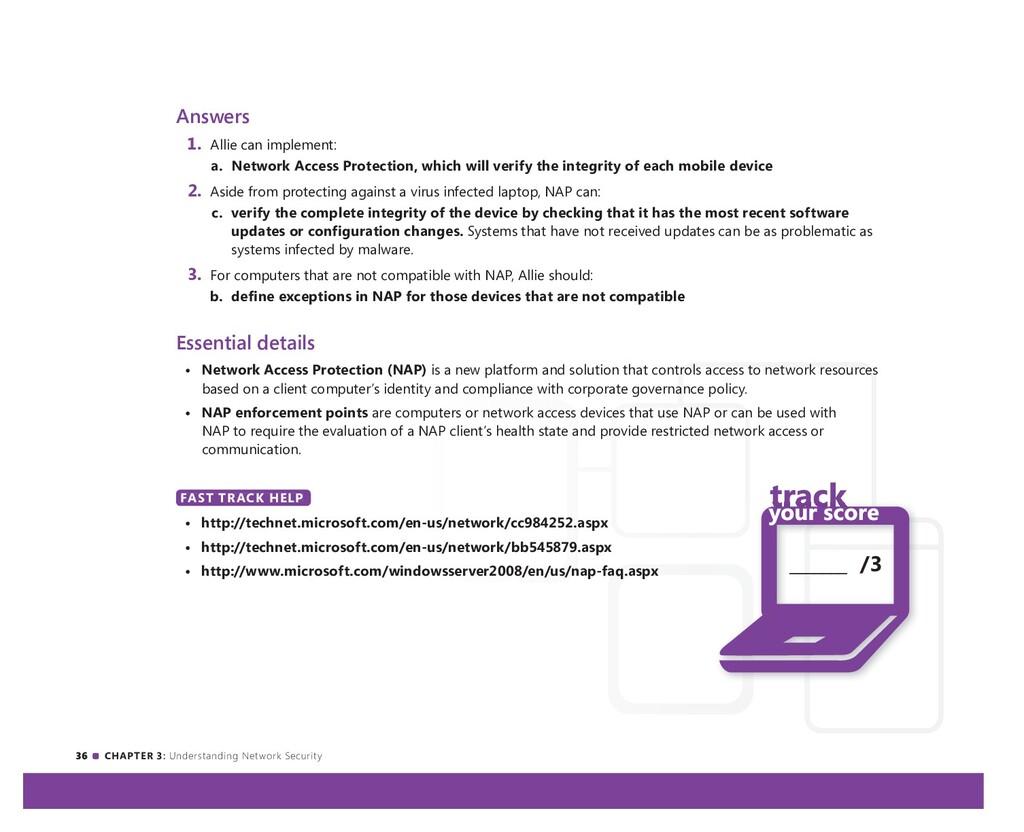 36 CHAPTER 3: Understanding Network Security An...