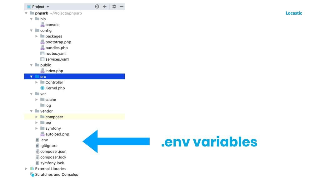 .env variables