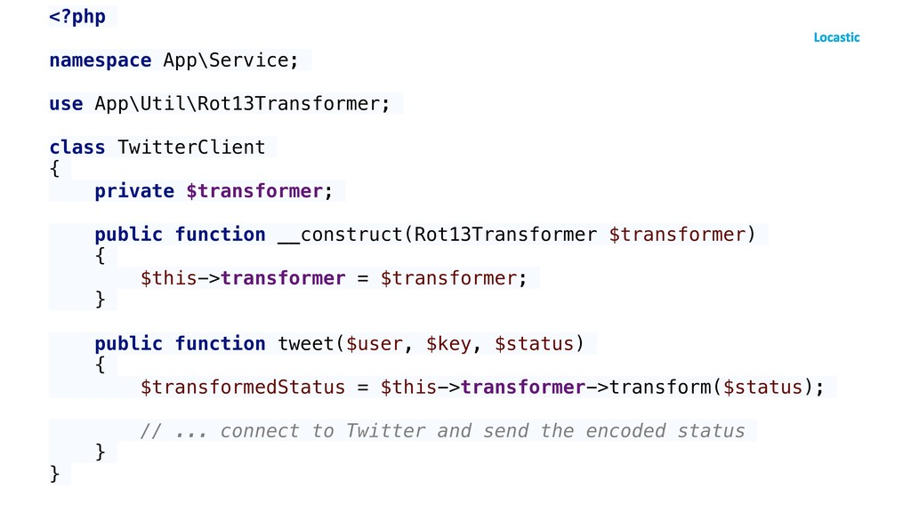 <?php namespace App\Service; use App\Util\Rot13...