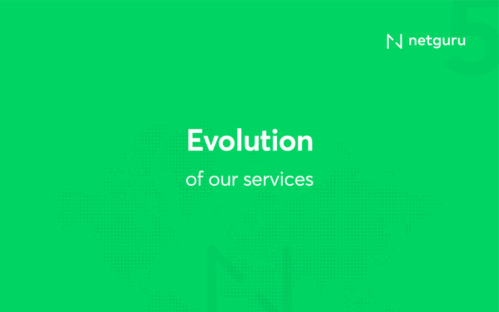5 of our services Evolution