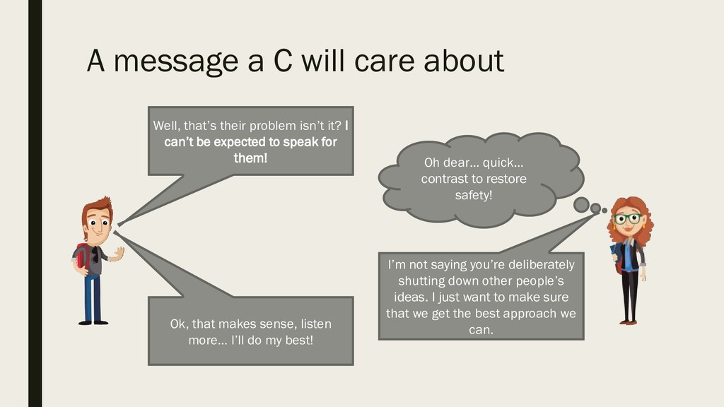 A message a C will care about Oh dear… quick… c...