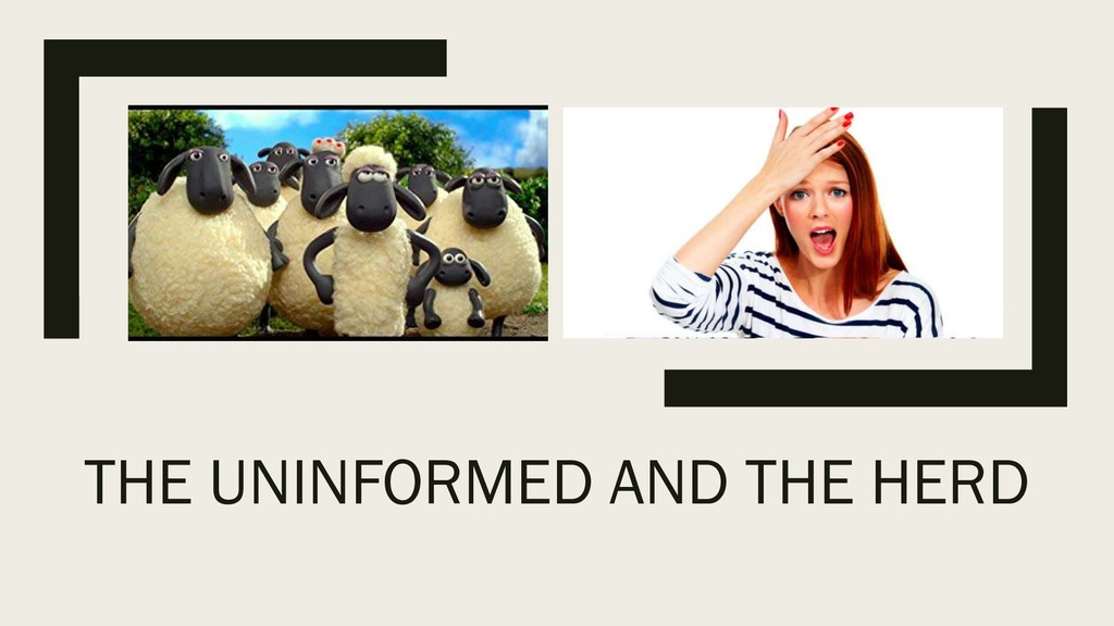 THE UNINFORMED AND THE HERD