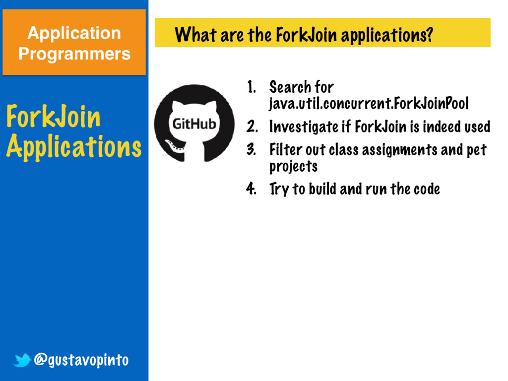 ForkJoin Applications What are the ForkJoin app...