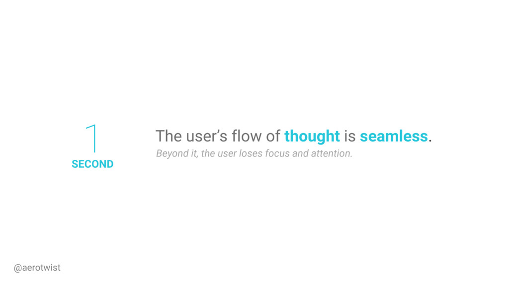 The user's flow of thought is seamless. Beyond ...