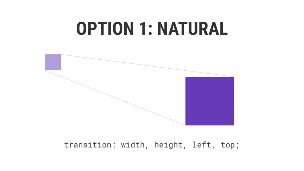 OPTION 1: NATURAL transition: width, height, le...