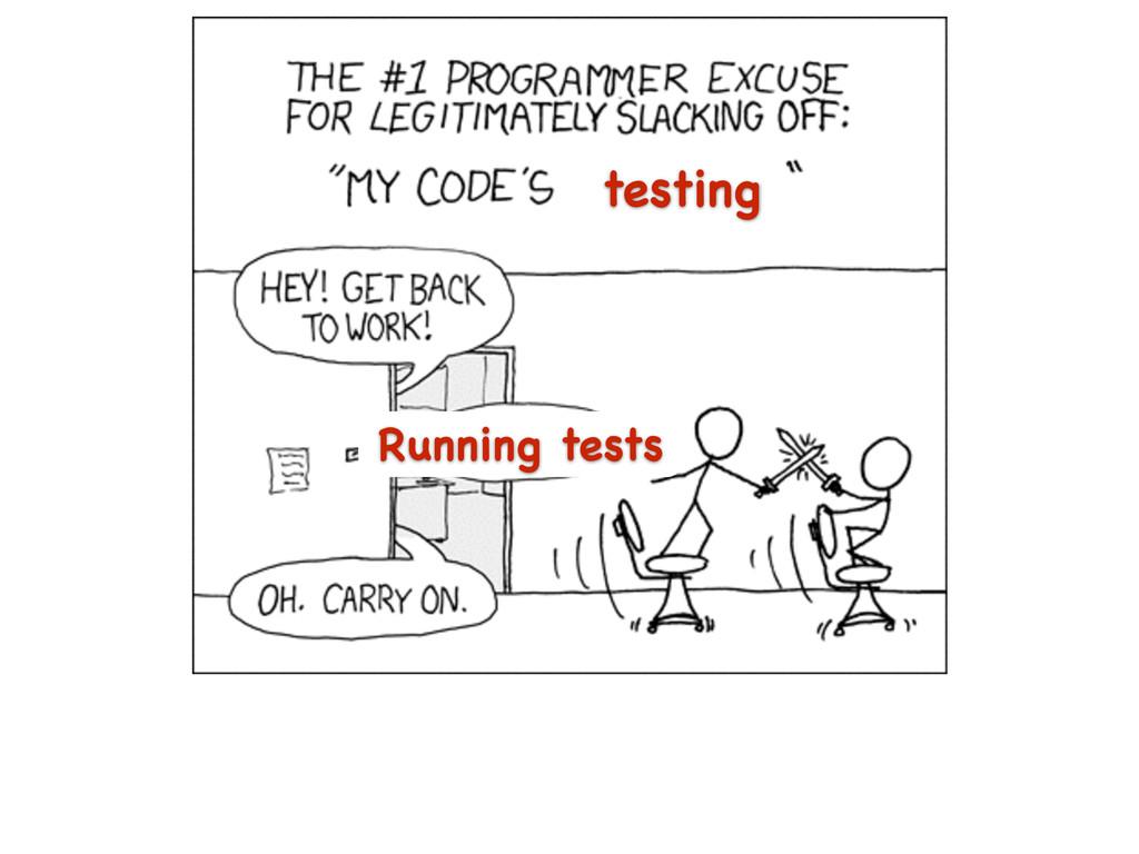 testing Running tests