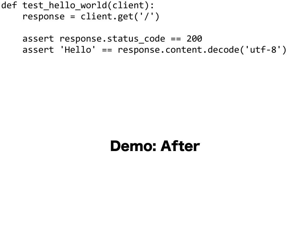 """%FNP""""GUFS def test_hello_world(client):   ..."""