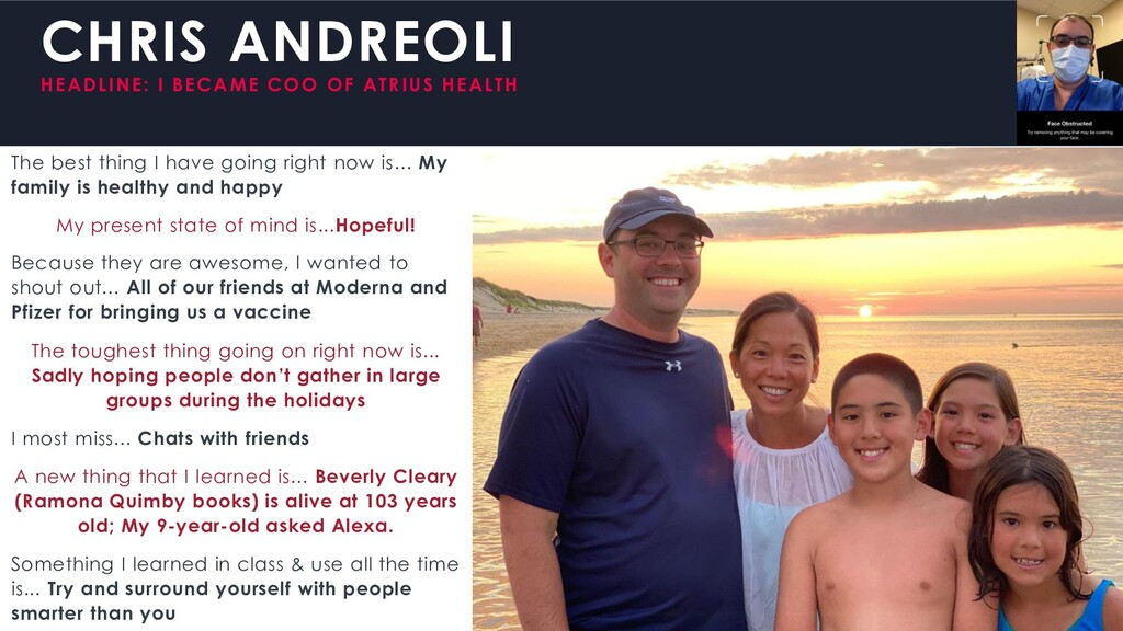 CHRIS ANDREOLI HEADLINE: I BECAME COO OF ATRIUS...