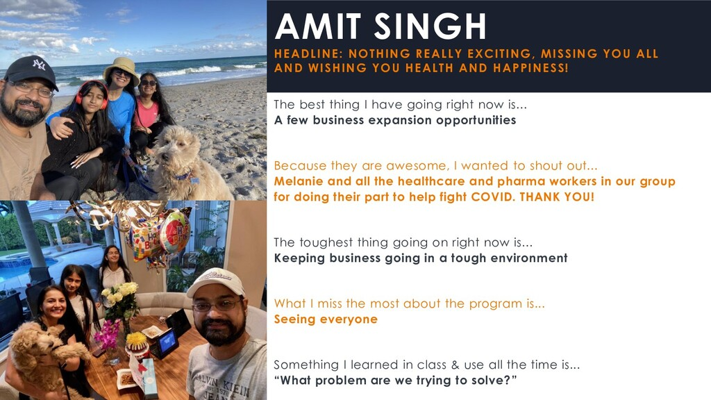 AMIT SINGH HEADLINE: NOTHING REALLY EXCITING, M...