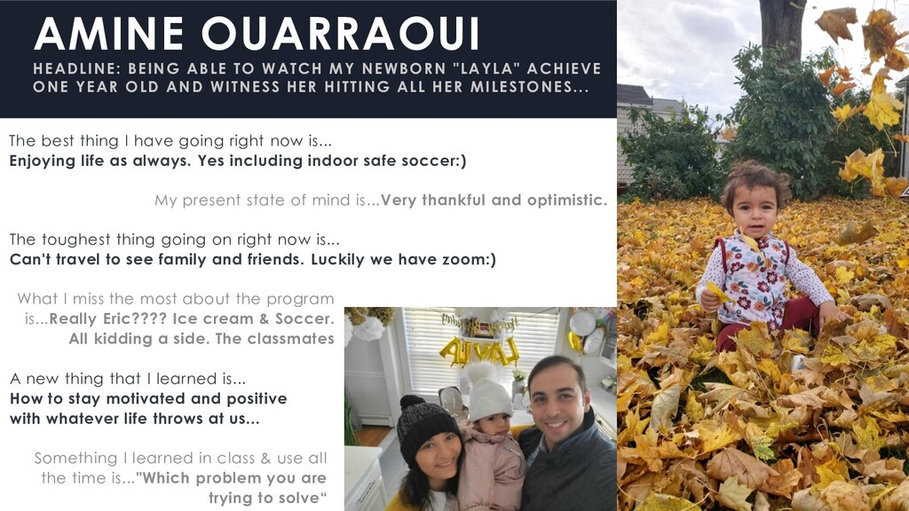 AMINE OUARRAOUI HEADLINE: BEING ABLE TO WATCH M...