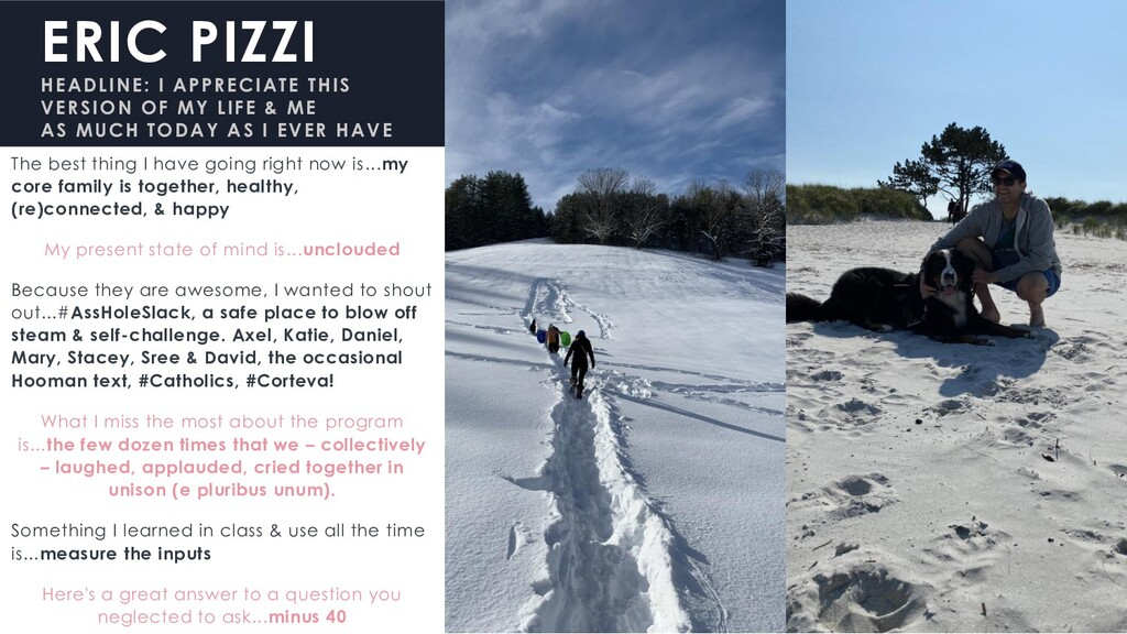ERIC PIZZI HEADLINE: I APPRECIATE THIS VERSION ...