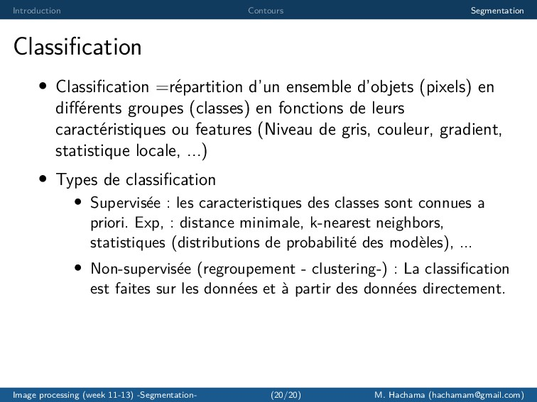 Introduction Contours Segmentation Classificatio...