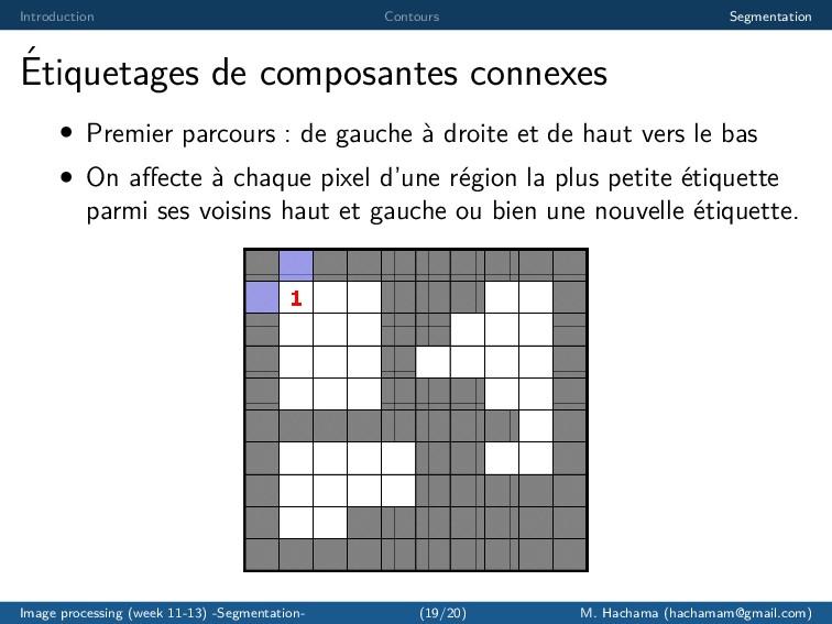 Introduction Contours Segmentation ´ Etiquetage...