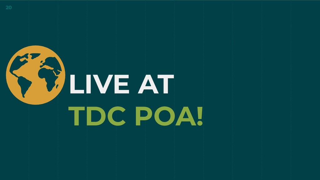 LIVE AT TDC POA! 20