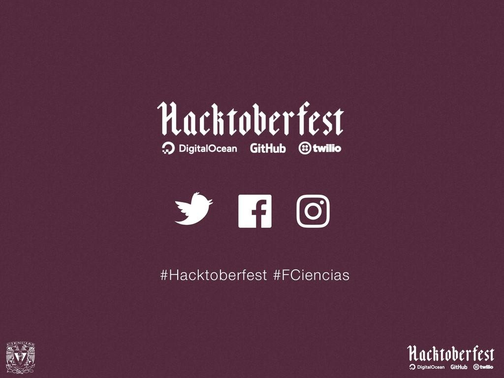 #Hacktoberfest #FCiencias