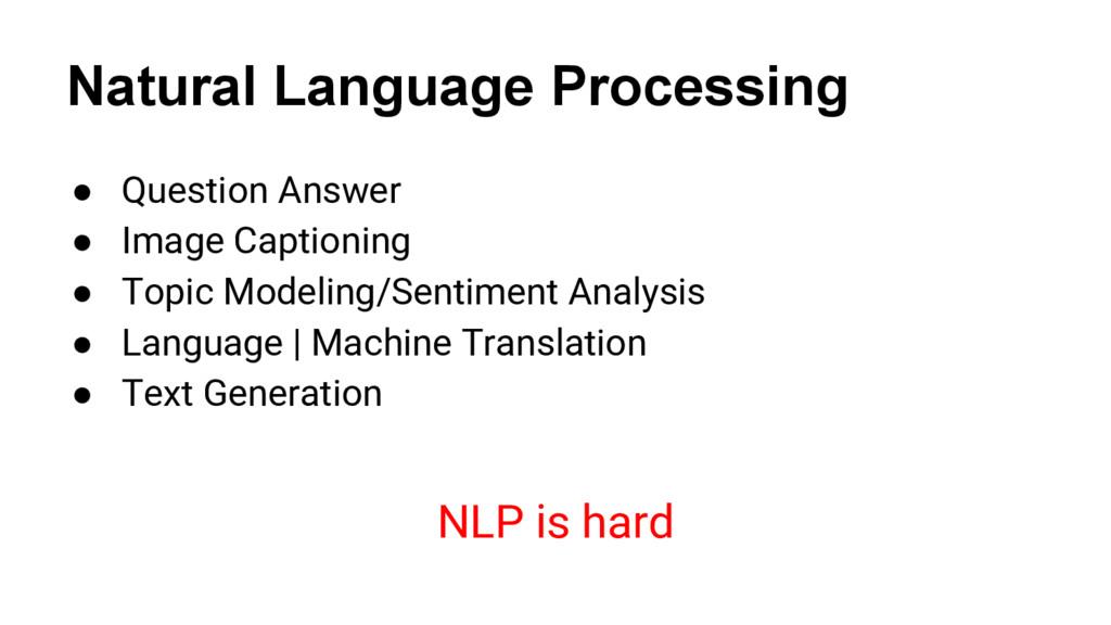 Natural Language Processing @nyghtowl ● Questio...