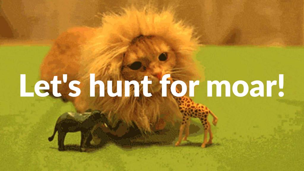 Let's&hunt&for&moar!