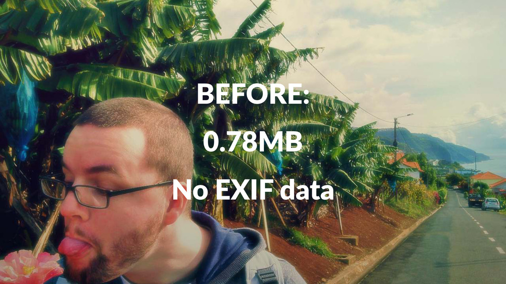BEFORE: 0.78MB No#EXIF#data