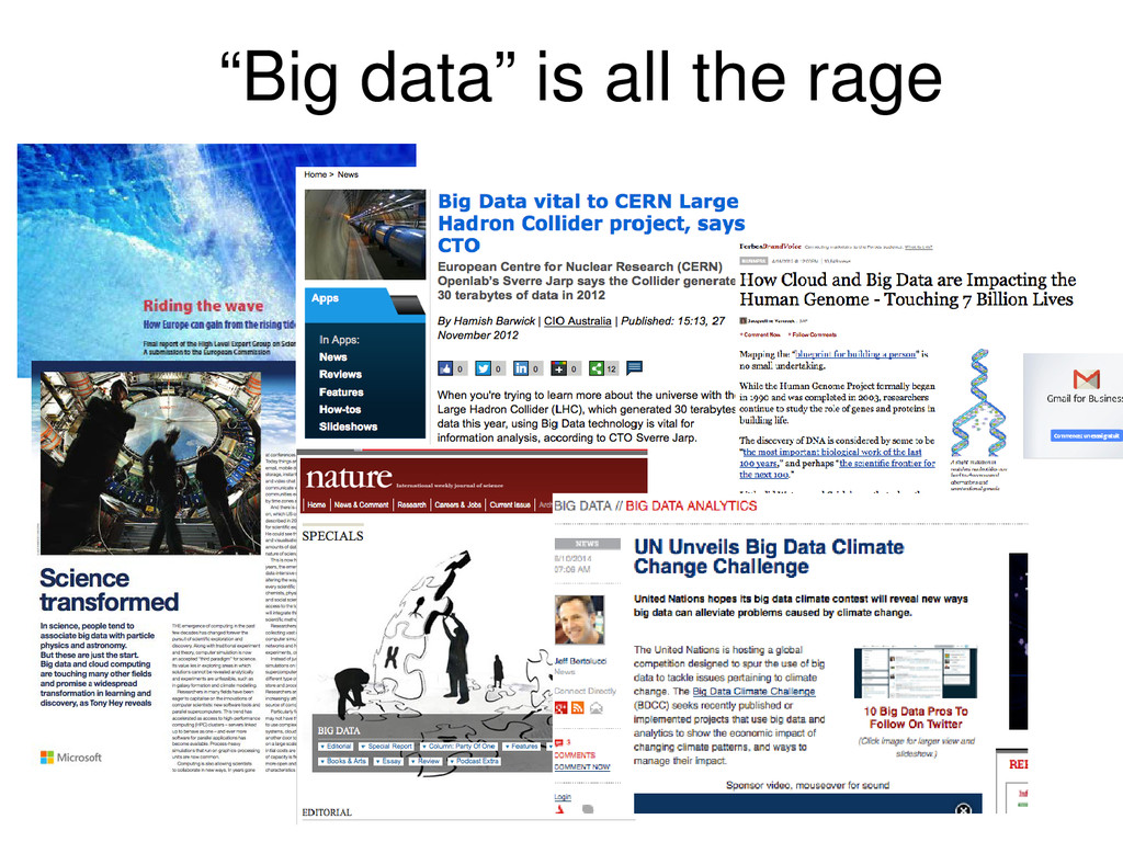 """Big data"" is all the rage"