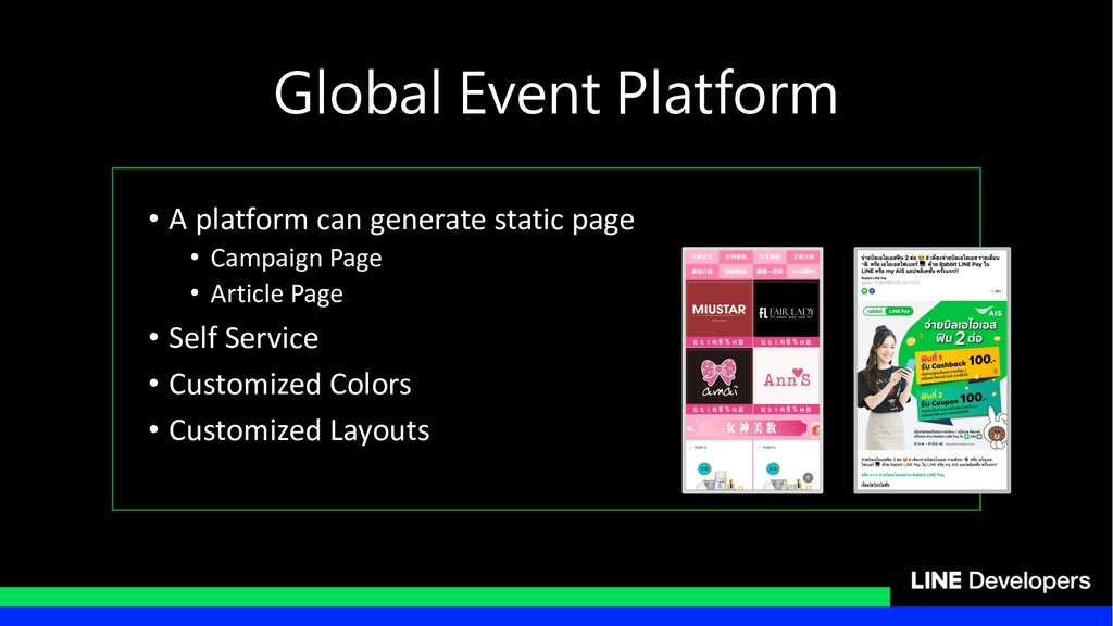 • A platform can generate static page • Campaig...