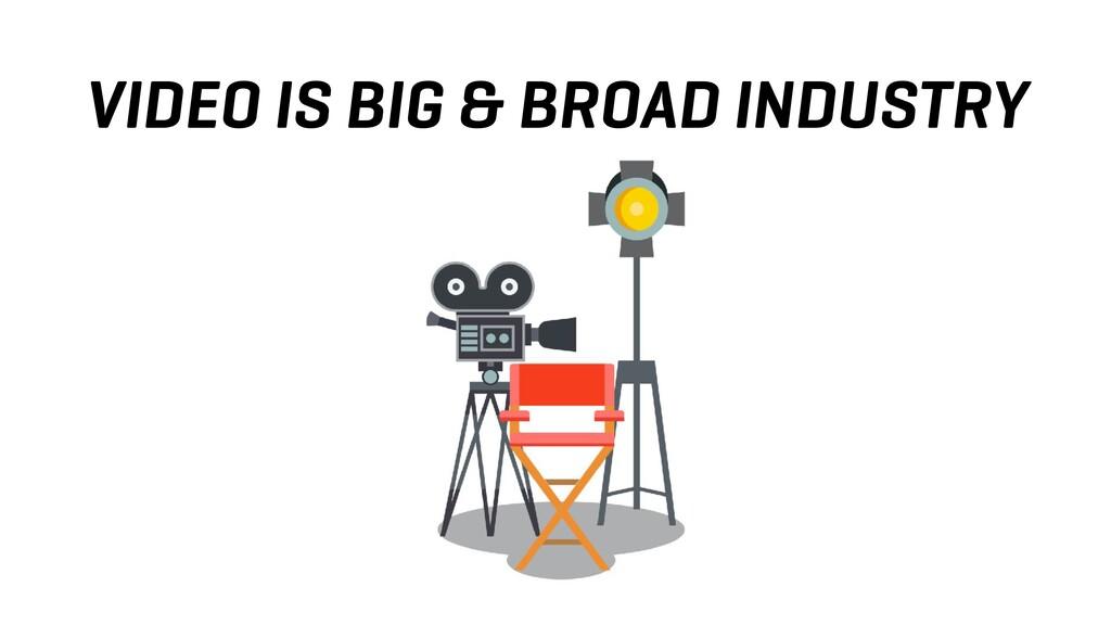 VIDEO IS BIG & BROAD INDUSTRY