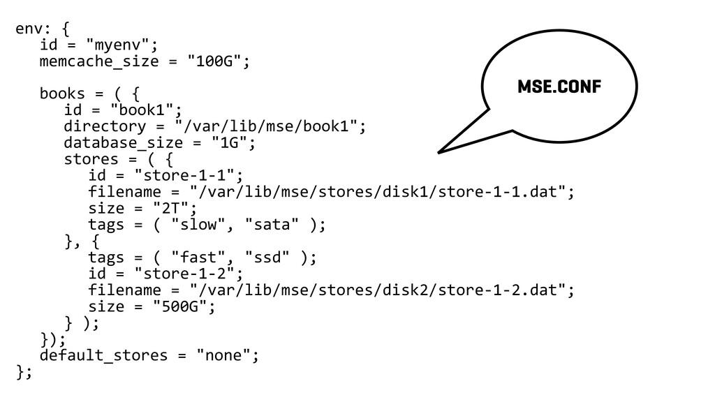 """env: { id = """"myenv""""; memcache_size = """"100G""""; bo..."""