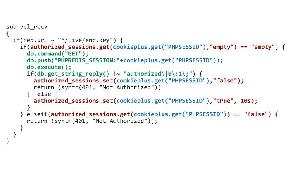 """sub vcl_recv { if(req.url ~ """"^/live/enc.key"""") {..."""