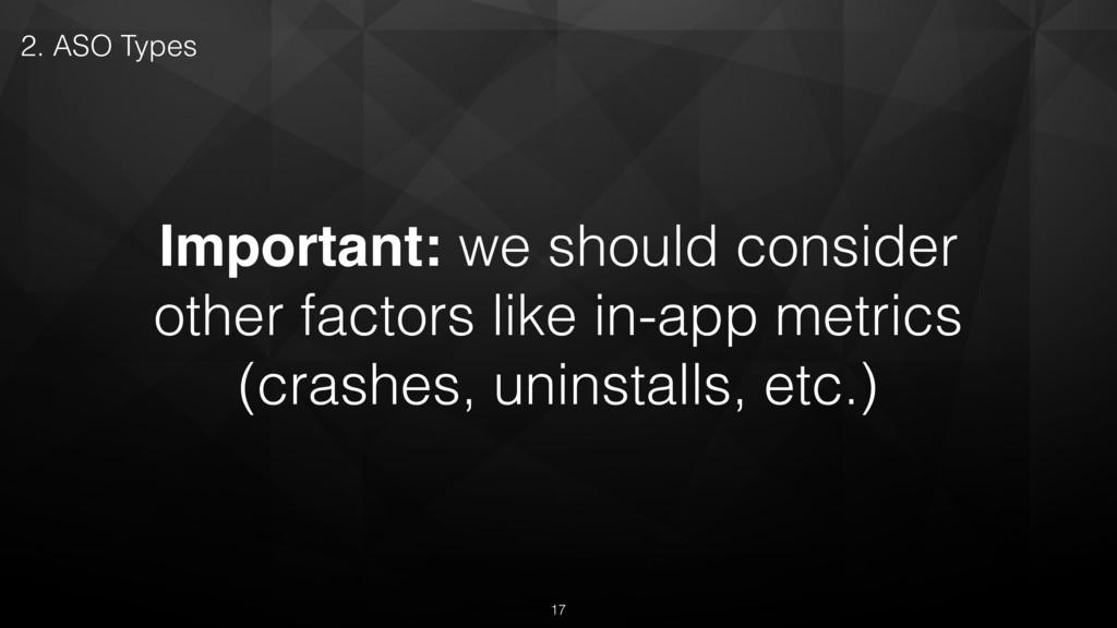 Important: we should consider other factors lik...