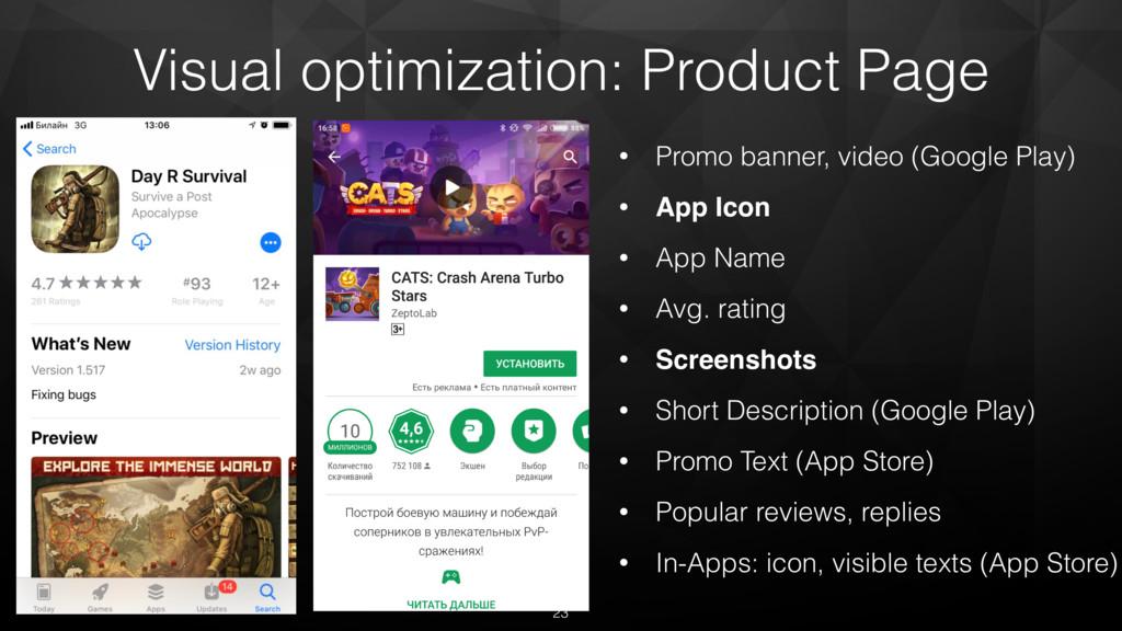 • Promo banner, video (Google Play) • App Icon ...