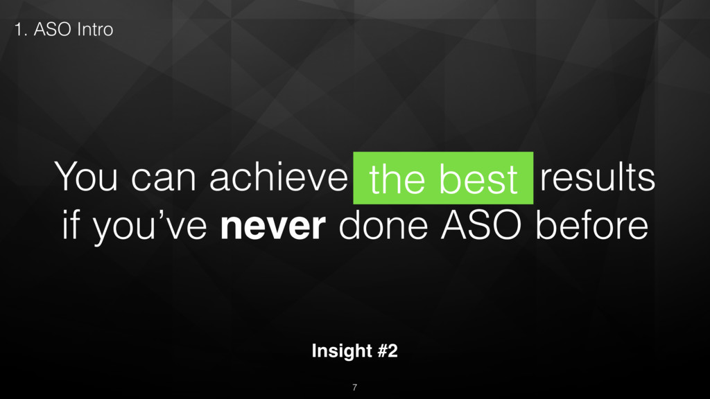 You can achieve the best results if you've neve...