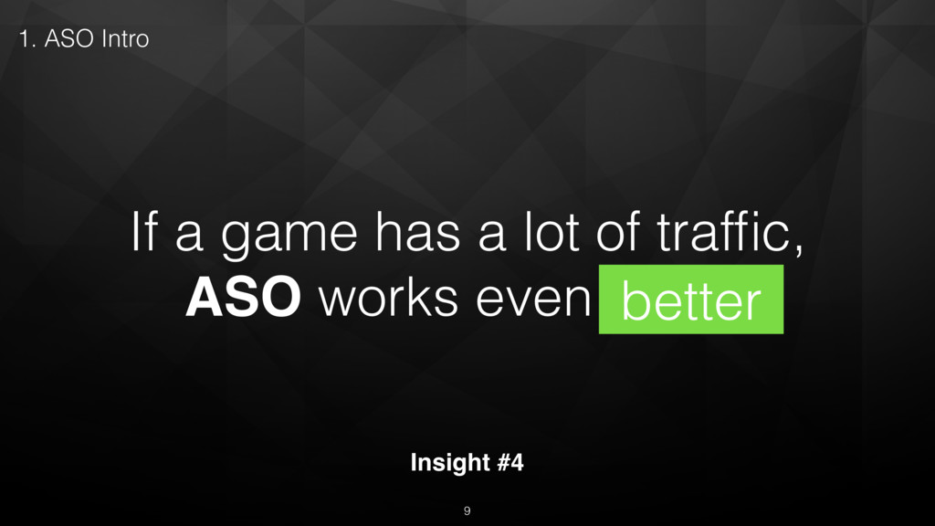 If a game has a lot of traffic, ASO works even b...