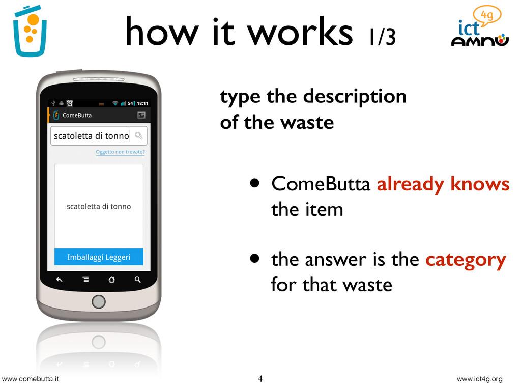 www.comebutta.it www.ict4g.org how it works 1/3...